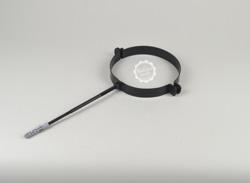 Rohrschelle, mit Stockschraube, Gewindestift aus Edelstahl und Kunststoffdübel